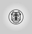 pitbull dog logo icon design vector image