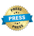press round isolated gold badge vector image vector image