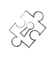 puzzle piece isolated vector image vector image