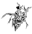 satan head with scary face vector image vector image