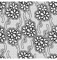 Seamless floral lace pattern Monochrome repeating vector image