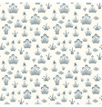 Seamless floral retro pattern of classic style vector image vector image