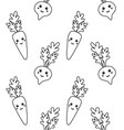 seamless pattern cartoon carrot and beet vector image vector image