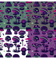 seamless pattern with magic mushroom vector image vector image