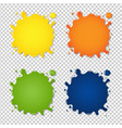 set of colorful blots vector image vector image