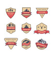 set of isolated vintage or retro logo style badge vector image