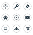 set of simple b2b icons vector image vector image