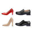 shoes realistic man and woman evening elegant vector image