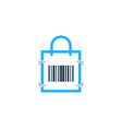 shop barcode logo icon design vector image vector image