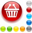 Shopping button vector image vector image