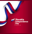 slovakia independence day template design vector image