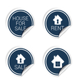 sticker of house for sale and rent vector image