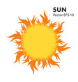 summer hot sun with tongues flame vector image vector image