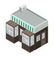 sweet fruit street shop icon isometric style vector image vector image