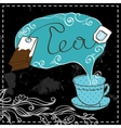 Tea time design template vector image vector image