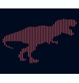 the linear of a dinosaur logo vector image