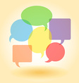 Transparent speech bubbles vector image