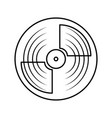 vinyl record turntable icon vector image vector image