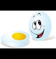 white egg vector image
