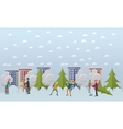 Winter activities christmas time concept vector image