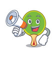 with megaphone ping pong racket character cartoon vector image vector image