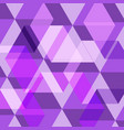 abstract purple geometric template background vector image vector image