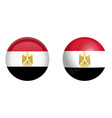 arab republic of egypt flag under 3d dome button vector image vector image