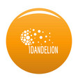 beautiful dandelion logo icon orange vector image