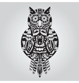 Beautiful ornamental owl graphic vector image vector image