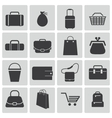 black bagicons set vector image vector image