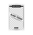 black friday sale - vertical banner vector image