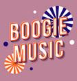 boogie music vintage 3d lettering retro bold font