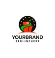 building green star logo template icon design vector image