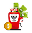 business fuel vector image