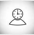 businessman time managment thin line on white vector image