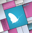 butterfly icon sign Modern flat style for your vector image