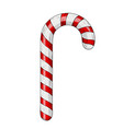 candy cane hand drawn colored sketch vector image