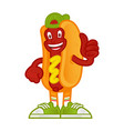 cartoon character hot dog vector image