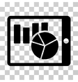 Charts On PDA Icon vector image vector image