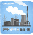 chemical factory template vector image vector image