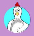chicken approval icon app animal avatar vector image vector image