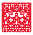 christmas papel picado design mexican xmas vector image