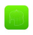 circus tent icon green vector image