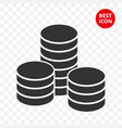 coins stack isolated modern vector image
