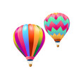 colorful hot air balloons flying isolate on white vector image vector image