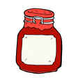 comic cartoon jam preserve vector image vector image