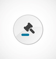 court law icon 2 colored vector image vector image
