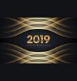 creative luxury happy new year 2019 vector image vector image