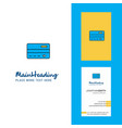 credit card creative logo and business card vector image vector image