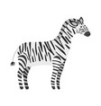 cute cartoon black and white smiling zebra vector image vector image